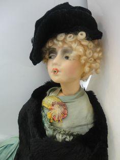 Super RARE Antique Cubeb Smoker Bed Boudoir Doll