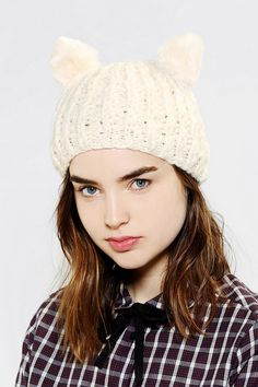 Animal Ears Beanie - Urban Outfitters
