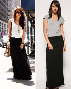 Long Black Summer Skirt