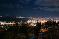 Haifa by night