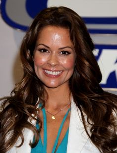 Brooke Burke long center part hairstyle