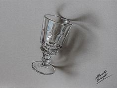 An Absinthe glass - drawing by Marcello Barenghi