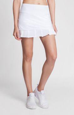 The pleated mesh hem of the Jaida Skort makes it a great basic with a stylish twist! #tennis