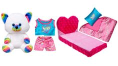 NEW Build a Bear Rainbow Smiles Kitty Heart Bedding Set 7 in. Buddies Stuffed Toy Animal A Wonderful Gift Idea!  In Stock Now at http://www.bonanza.com/listings/Build-a-Bear-Rainbow-Smiles-Kitty-Heart-Bedding-7-in-Buddies-Stuffed-Toy-Animal/290717842