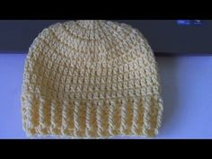 Learn to crochet Ribbed Beanie - Style 2  (tambien en Espanol) ❥Teresa Restegui http://www.pinterest.com/teretegui/❥