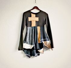 Rustic Brown Top Eco Friendly Clothing Goth by BrokenGhostClothing, $69.00