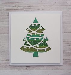My favourite part about Christmas - the tree!! Perfect Christmas cards for friends and family now in stock #etsy  #papergoods #christmascards