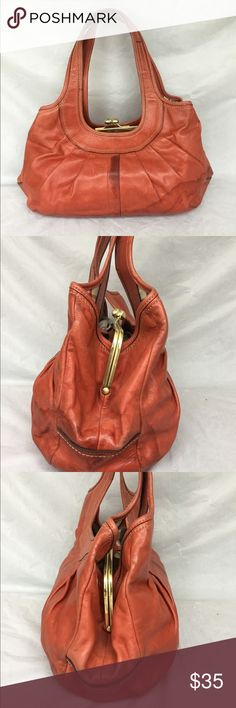 Coach ERGO satchel Orange leather bag with notable wear noted and water spots. Coach Bags Satchels