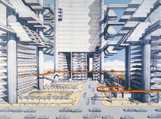Paul Rudolph's 1967 design for City Corridor was meant to revive Robert Moses' doomed Lower Manhattan Expressway connecting the Williamsburg and Manhattan Bridge