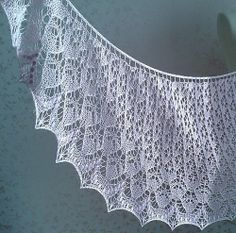 Ravelry: Winged Estonian pattern by Rahymah--I knit each of my daughters a white Estonian lace shawl when they're born. Just in case I have to do another.