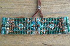 Bead woven braceletsSeed bead loomed bracelets by Adornments925