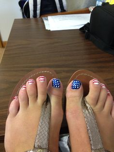 4th of July tootsies!