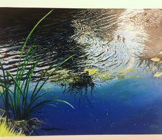 Pond Scene Oils Painting Studio, Airbrush Art, Custom Paint, Art School, Pond, Scene, Gallery, Artwork, Outdoor