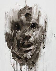 Edgy paintings by UK artist Antony Micallef L'art Du Portrait, Portraits, Portrait Ideas, Modern Art, Contemporary Art, Heart Painting, Painter Artist, Art Et Illustration, Tumblr