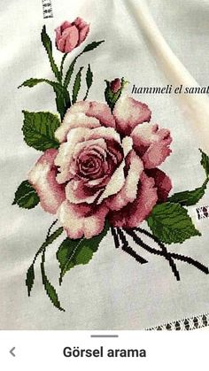 Cross Stitch Flowers, Cross Stitch Patterns, Antique Roses, Hand Embroidery, Diy And Crafts, Antiques, Crochet, Crossstitch, Decor