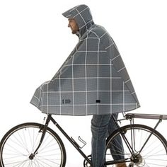 Cleverhood Electric Gingham rain cape by Cleverhood on Opensky https://www.cleverhood.com/products/electric-gingham/