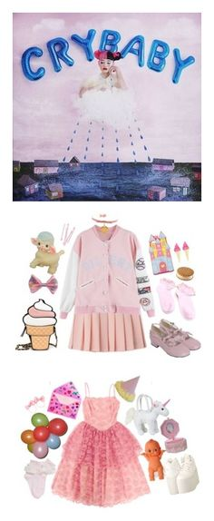 """""""💔🎁🍭CRY BABY💦🎈🎂"""" by sugaryragdoll ❤ liked on Polyvore featuring ASOS, BOBBY, Bodyline, H&M, melaniemartinez, Crybaby and pityparty"""