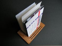 Buscard a business cards holder wood as big as a by lexioshop