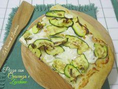 La Pizza con Crescenza e Zucchine è una soffice e deliziosa Pasta lievitata…