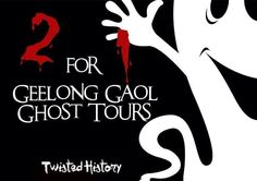 Two For One - Geelong Gaol Cold, wet and windy! What a perfect night for a ghost tour! Come and experience the freezing conditions that the prisoners once endured inside the walls of the Geelong Gaol.  Join the team at Twisyed History this evening (Wednesday) and you can bring a friend for free! So if you have someone you would like […]