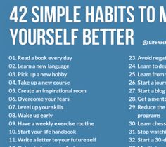 How To Become a Better Person | 42 Simple Habits