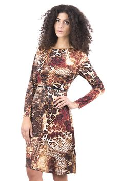 ScottyDirect - Animal Print Stretchy Dress Fully Lined with Belt, $43.95 (http://www.scottydirect.com/animal-print-stretchy-dress-fully-lined-with-belt/)