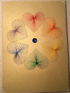 Fadengrafik Karte Regenbogen Blume Gay Pride 08B von Rene´s Fadengrafiken auf DaWanda.com