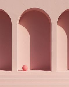 Hidden Places - Illustrations using simple shapes ,soft lighting and pastel colors with a focus on surreal, minimal design. Minimalist Architecture, Architecture Design, Murs Roses, Accessoires Photo, Minimalist Photography, Simple Shapes, Pink Aesthetic, Minimal Design, Cheap Home Decor