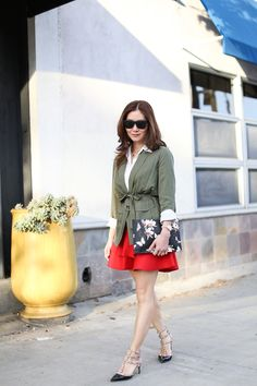 Style: Belted Jacket and Flounce Skirt