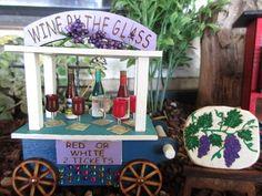Miniature Rustic Gypsy Wagon ~ Fairy Garden Accessories /& Carnival Miniatures