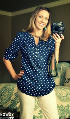 Dear Stitch Fix stylist, I LOVE this top...perfect for work and navy is one of my staple colors! The gathered details on the sleeve and v-neck are perfect!