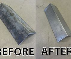 How to clean new steel without sandblasting