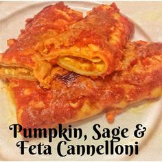 Pumpkin, Sage and Feta Cannelloni (Thermomix Method Included) - Mother Hubbard's Cupboard Gourmet Recipes, Vegetarian Recipes, Healthy Recipes, Savoury Recipes, Creamy Chicken Carbonara, Cannelloni Recipes, Baked Eggplant, Money Saving Meals, Bean Soup