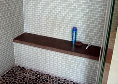 Having trouble finding the right concrete product for you? Trueform Concrete is dedicated to bringing your vision to life. Please reach out to us for any custom concrete project. Bathroom Renovations, Bathroom Ideas, Bathrooms, Concrete Shower, Pebble Floor, Tile Wood, Concrete Projects, Custom Shower, Rock Bottom