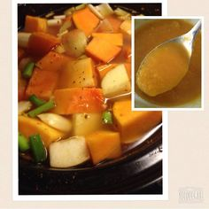 Butternut Squash and Apple Slow cooker soup vegan delicious Organic Local CSA