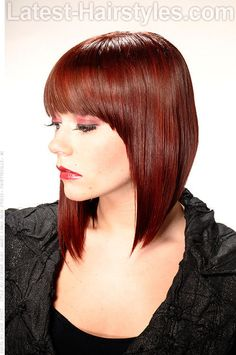 Red Haircolor with Red Highlights Side