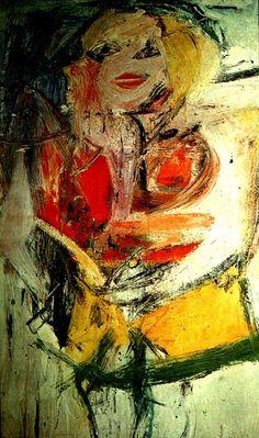 Willem de Kooning ~ Marilyn Monroe ~ 1954 ~ Olieverf op doek ~ Verzameling van R. Neuberger, New York ~ © 2016 The Willem de Kooning Foundation / Artists Rights Society (ARS), New York Willem De Kooning, Action Painting, Drip Painting, Tachisme, Jackson Pollock, Art Kandinsky, Robert Motherwell, Franz Kline, Expressionist Artists