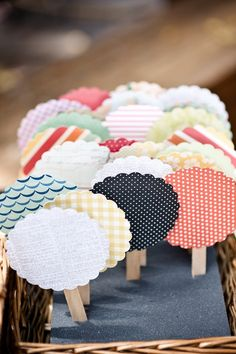 Cute patterned ceremony fans for an outdoor ceremony