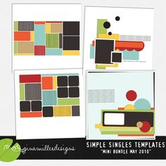 Simple Singles Template: Mini May BUNDLE by Gina Miller
