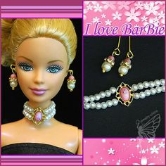 dolls jewelry set doll necklace and earring for dolls