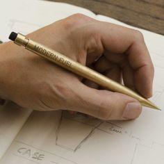 Modern Fuel Design Custom Engraved Brass Mechanical Pencil