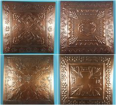 Decorative Metal Wall Hanging ~ Tooled Design ~ Copper Color ~ Home Wall Decor