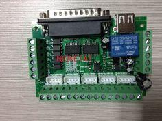 1/комплект MACH3 гравировка станок ЧПУ 5-осевой Breakout совета с оптическим муфта для Шаговый двигатель Drive контроллер + USB кабель