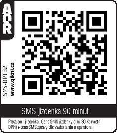 MHD Praha QR kód na SMS jízdenku na 90 min