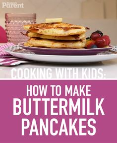 Cooking with kids: Bacon Buttermilk Pancakes