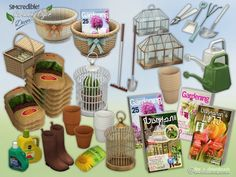 Decor items for your garden enthusiasts are now available. There are 16 new pieces to let your sim gardeners happy ^^ by SIMcredibledesigns.com  Found in TSR Category 'Sims 4 Garden Sets'