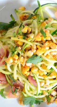 roasted corn and zucchini salad with chili lime vinaigrette....