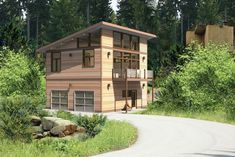 When two neighbors decide to build a Seattle DADU in their backyards, they turn to home designer Vicky Opperman of Seattle Cedar Homes for help. Garage Loft, Garage House, Prefab Garage With Apartment, Carriage House Plans, Small House Plans, House Floor Plans, Small Prefab Homes, Small Homes, Modular Homes
