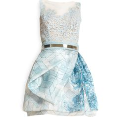 edited by Satinee - Zuhair Murad collection ❤ liked on Polyvore featuring dresses, vestidos, short dresses, satinee, mini dress, zuhair murad, blue dress and short blue dresses