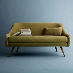 """Roar + Rabbit Glamour Velvet Sofa (60"""") West Elm $1000"""